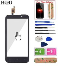 """4.5"""" For Lenovo A516 Touch Screen Panel Digitizer Front Glass Sensor Highscreen Touchscreen Adhesive + Screen Protector Gift"""