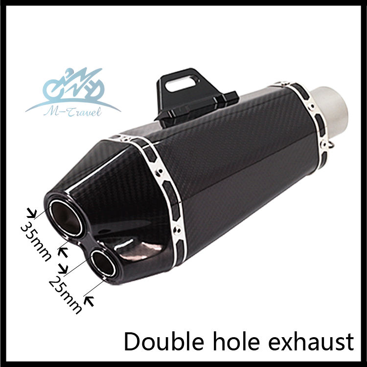 MTravel Universal 36-51mm Motorcycle exhaust Modified Scooter carbon fiber Exhaust Muffle for R1 R3 R6 FZ1N Z1000 GSXR600 BN600 bjmoto universal motorcycle exhaust modified scooter akrapovic exhaust muffle fit for most motorcycle