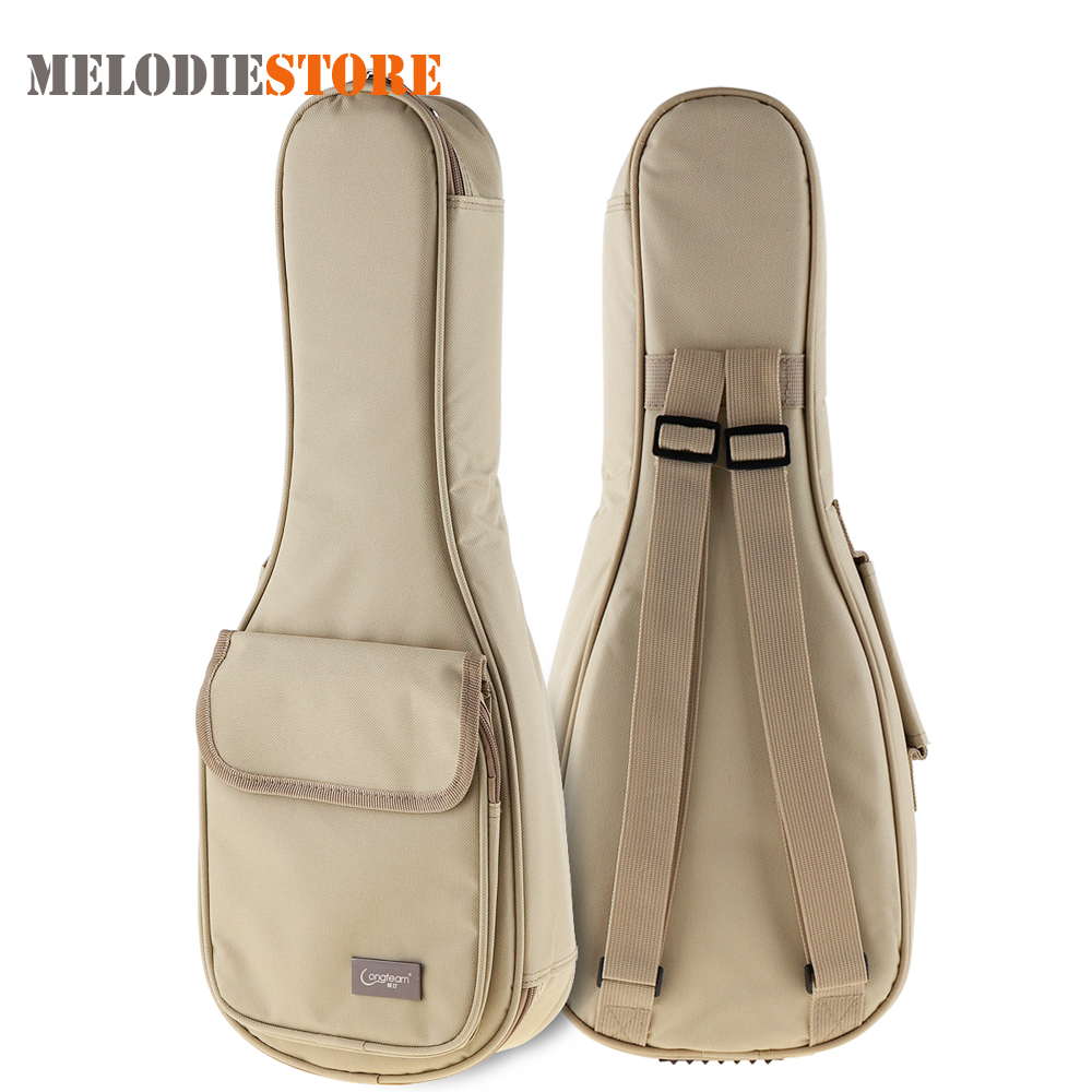 21 Inch Ukulele Gig Bag Carry Case 15mm Sponge Soft Stereoscopic Ukelele Mini Guitar Backpack Cover with Double Shoulder Straps купить