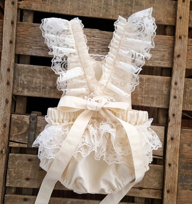 b1cac7edb824 2016 New summer baby romper Girl s princess white lace Romper baby clothes  Newborn Backless Jumpsuit-in Rompers from Mother   Kids on Aliexpress.com  ...