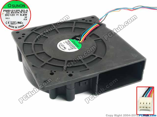 SUNON PMB1212PLB2-A (2).B2338.R.GN Server Cooling Fan DC 12V 9.8W 120x120x38mm 4-wire free shipping for sunon psd1206pwb1 a 2 b2443 f gn dc 12v 2 5a 8 wire 12 pin 100mm 60x60x60mm server square cooling fan