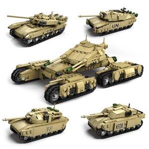 KAZI 4 компл./лот военные строительные блоки Сделай Сам армейские классические военные танковые кирпичи набор игрушек рождественские подарки...