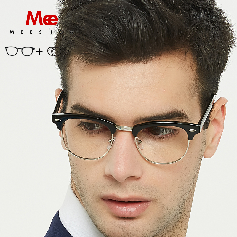 Meeshow Prescription Glasses men women CLUBSTREET glasses frame TR90 frame with case Eyeglasses customized lens(China)