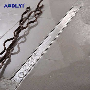 AODEYI 600mm Long Strip Floor Drain 304 Stainless Steel Odor-resistant With Tile Insert Grate Invisible Shower Drain Brushed - DISCOUNT ITEM  30% OFF All Category