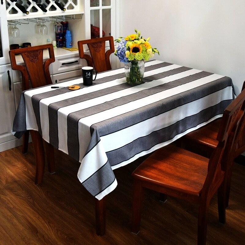 Cotton Table Cloth Blacku0026White Striped Modern American Style Toalha De Mesa Table  Cover Manteles Para Mesa