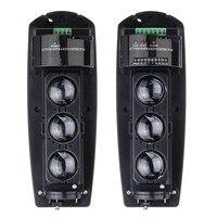 Safurance Przewodowy 250 M Triple Wyjście Home Security Alarm Sabotażowy Beam Fotoelektryczny Detektor Podczerwieni LED