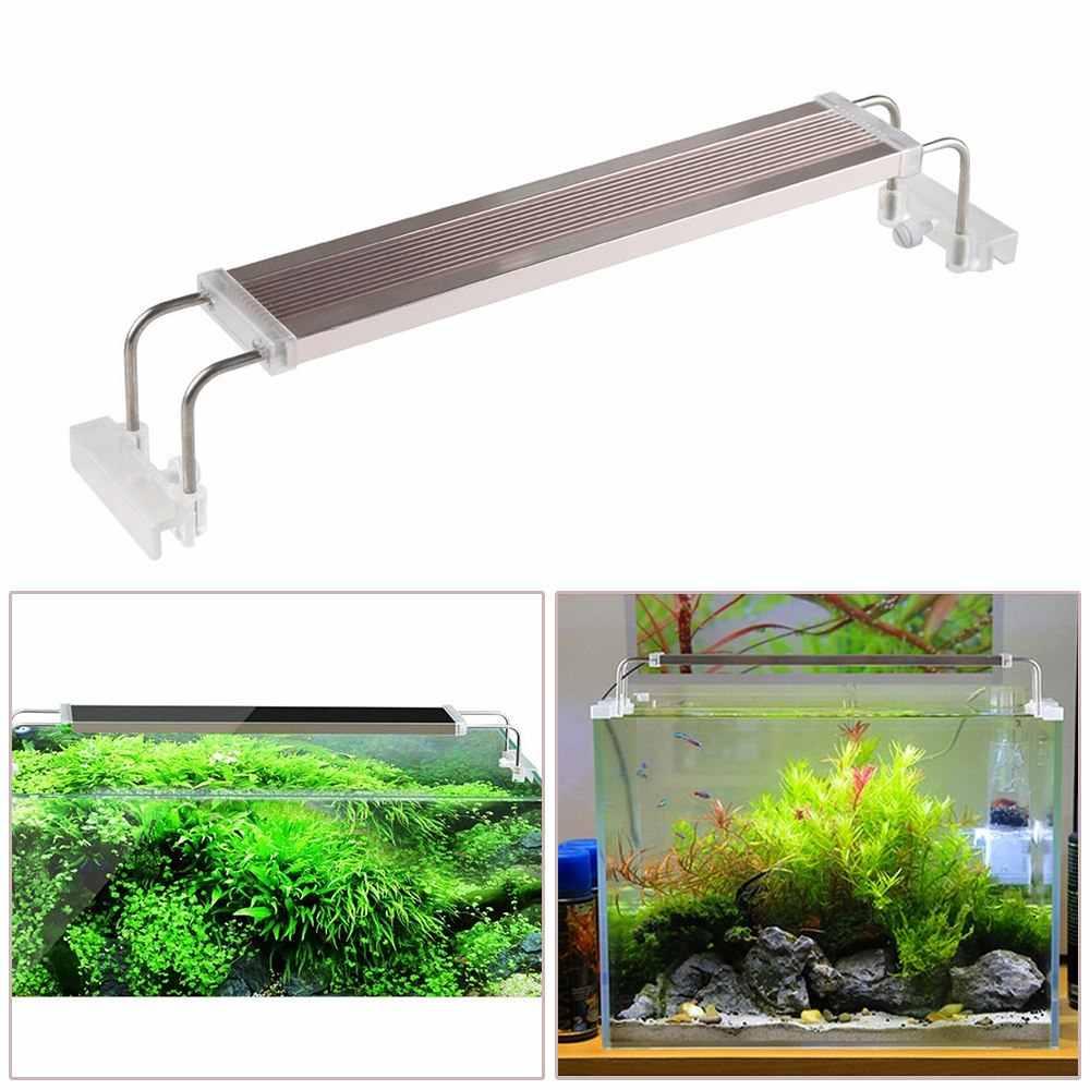 Aquarium Led Light 220v 12 24 W Fish Lighting Slim Overhead Fish Tank Grow Lighting Pflanze Wachsen Beleuchtung 6500 7500 K Aliexpress