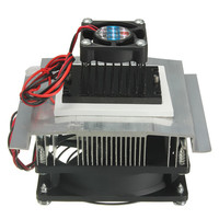 TEC1 12705 Thermoelectric Peltier Refrigeration Cooling System Kit Cooler Fan With 220V EU Power Supply