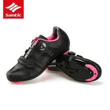 2018 Santic Cycling Shoes Road Bike Women Pro Team Carbon Professional Self-locking MTB Outdoor Mountain Shoes Bicycle Sapatos