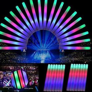 Image 3 - 30pcs led 빛나는 공예 콘서트 파티 웨딩 파티 클럽 바 a35에 대 한 여러 가지 빛깔의 led 거품 글로우 스틱 형광등 스틱