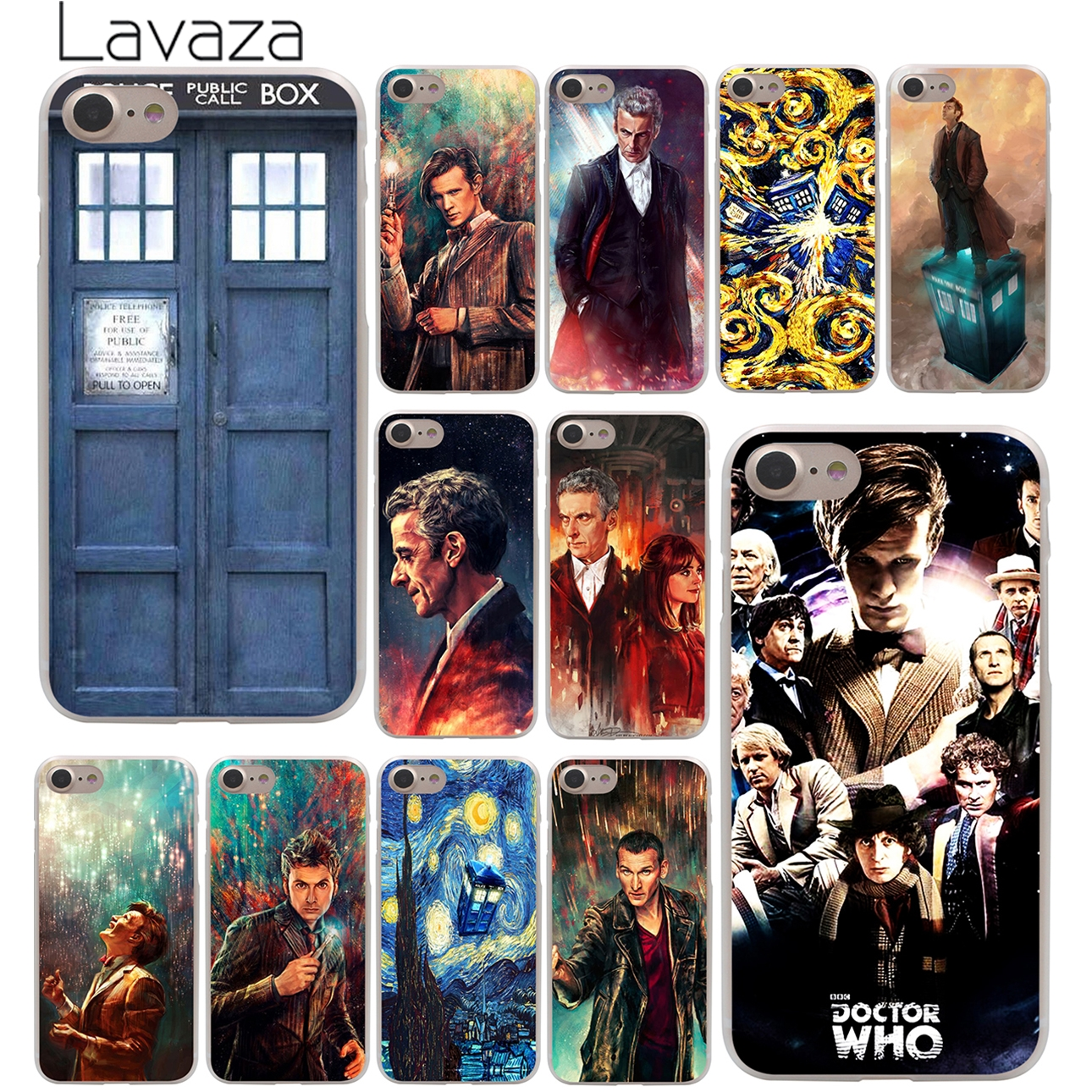 Tardis Box Doctor Who Hard Case Transparent for iPhone 7 7 Plus 6 6s Plus 5 5S SE 5C 4 4S