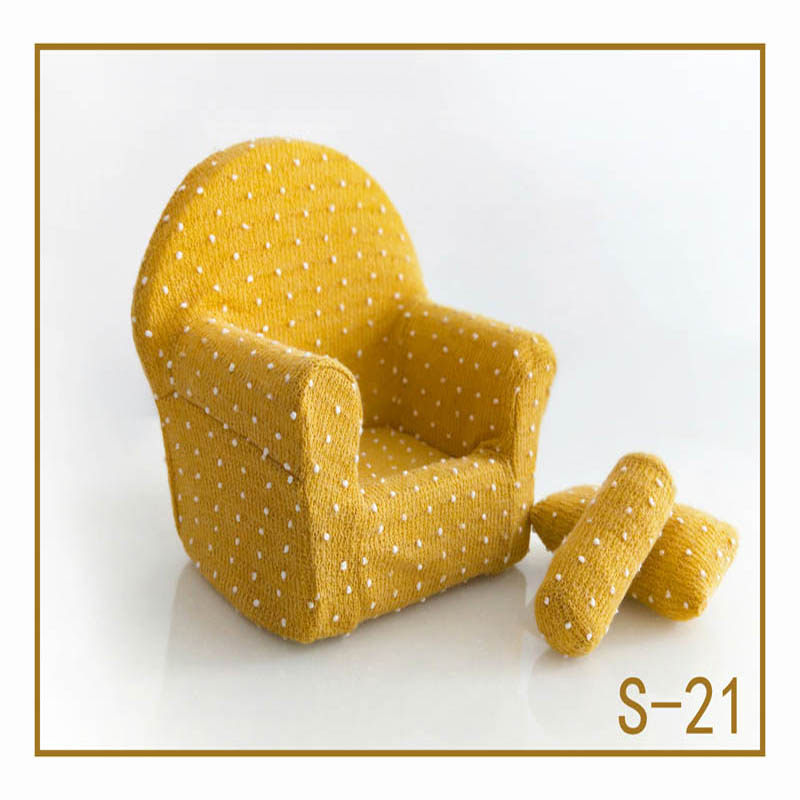 Реквизит для фотосъемки новорожденных, позирующий мини-диван, кресло на руку и 2 подушки, реквизит для фотосессии, студийные аксессуары для детей 0-3 месяцев - Цвет: 6