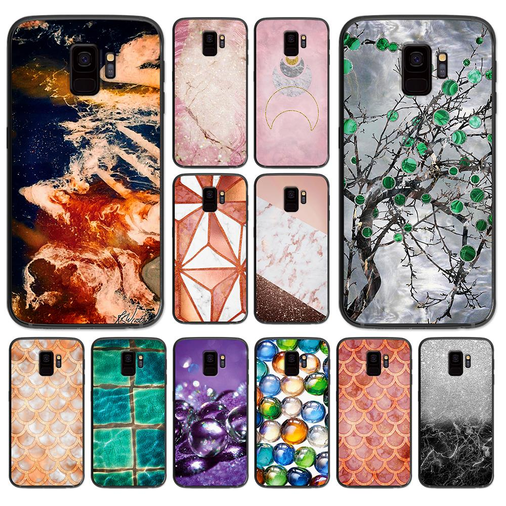 Multicolored Glass Balls Or Marbles Mix On White soft phone cover case for Samsung Galaxy S6 S7 S8 S9 S10e Plus Note 8 9 Cases