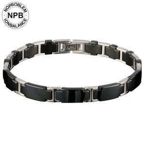 Image 2 - Noproblem 065 3000 ionen balance keramik perlen power therapie choker punk fitness turmalin germanium charms männer armband