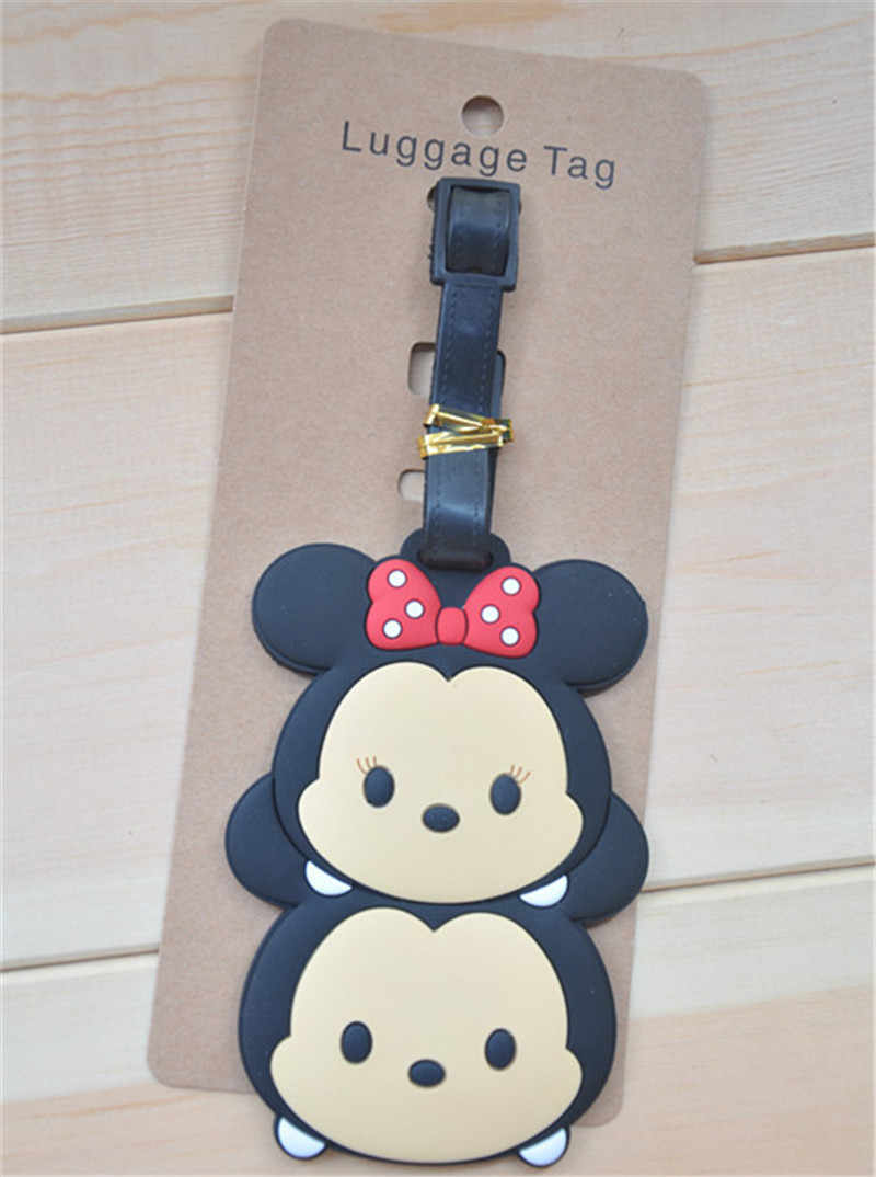 Creative Cute Silicone Luggage Tag Boarding Pass Travel Suitcase Consign Tag