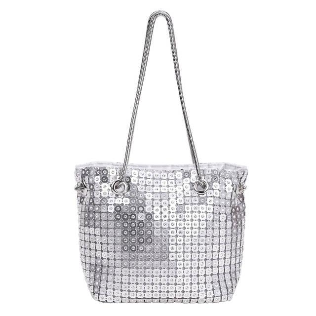 Sequins Evening Bag Dazzling Silver