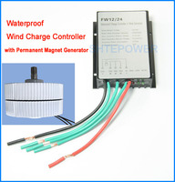 3 Phase 24V Permanent Magnet Generator 400W Wind Turbines With 24V Waterproof Wind Turbine Generator Charge