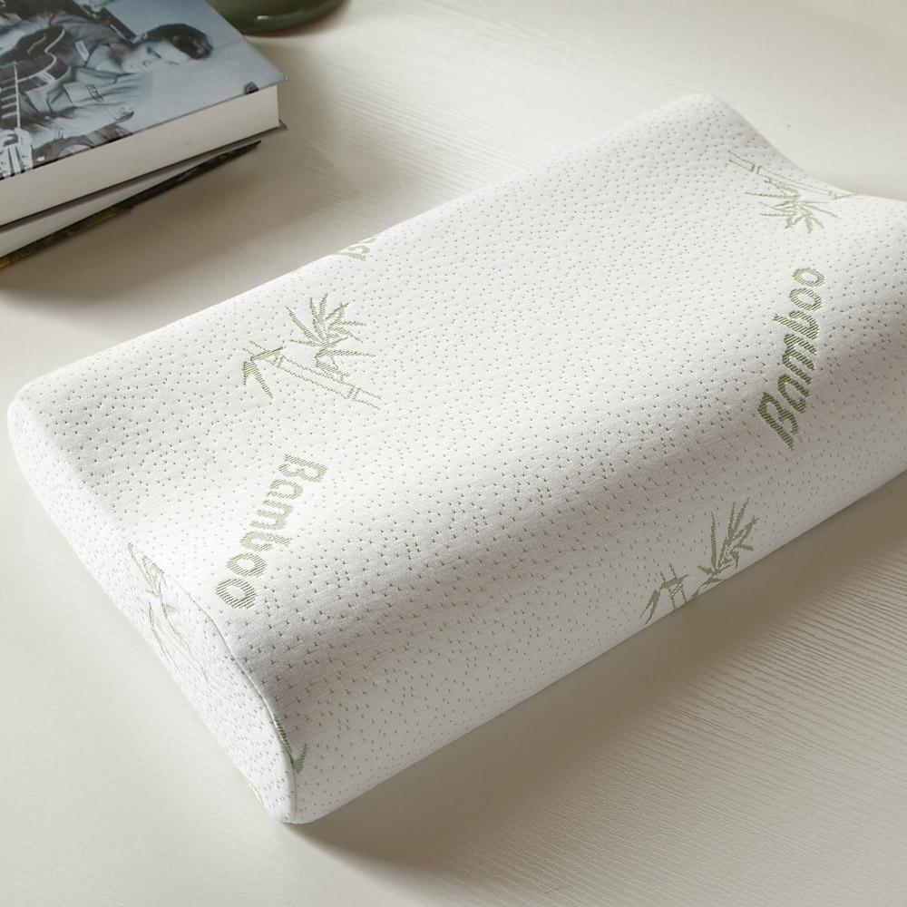 Soft Health Memory Foam Bamboo Fiber Pillow Slow Rebound Latex Neck Pillows