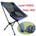New Portable Folding Chair Aluminum Camping Fishing Chair with Backrest Carry Bag 4 color Chairs