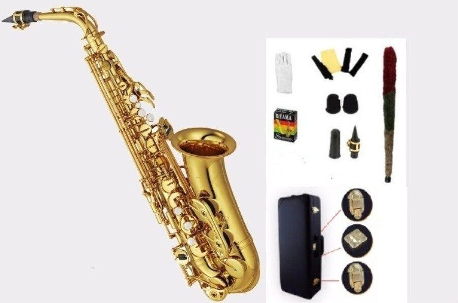 Haute qualité Alto saxophone YAS62 82Z 875EX Laque D'or E flat saxophone Alto Top Musique de qualité professionnelle Effectuer