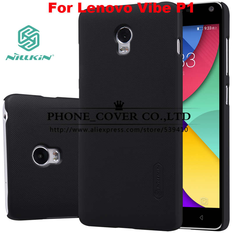 Nillkin Super Frosted Shield Case Cover For Lenovo Vibe P1 phone bags skin cases Lenovo Vibe P1 case+ screen protectors +package