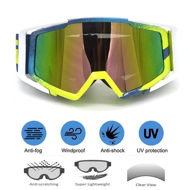 Motocross Sunglasses Motor Goggles Bike Cross Flexible Goggles Tinted UV Goggle Motorcycle Skiing Glass Vintage Retro Eyewear