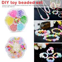 DIY Handmade Beaded Toy with Accessory Set Children Creative Girl Weaving Bracelet Jewelry Making Toys Educational Children Gift цена