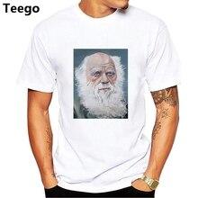 O Envio gratuito de Charles Darwin Evolução T-Shirt 100% Algodão dos homens  de Origem Das Espécies Ateu top tees 4d36b26de80