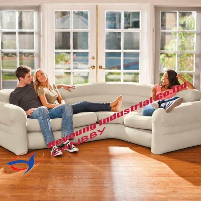 Us 130 8 13 Off Intex Inflatable Sectional Corner Sofa Waterproof Neatural Inflatable Couch Lounge With Comfortable Armrests Backrest In Camping