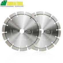 цена на SHDIATOOL 2pcs 7inch/180mm Laser Welded Arrayed Diamond Blade Cutting Disc Saw Blade Hard Material Diamond Wheel Bore 22.23MM