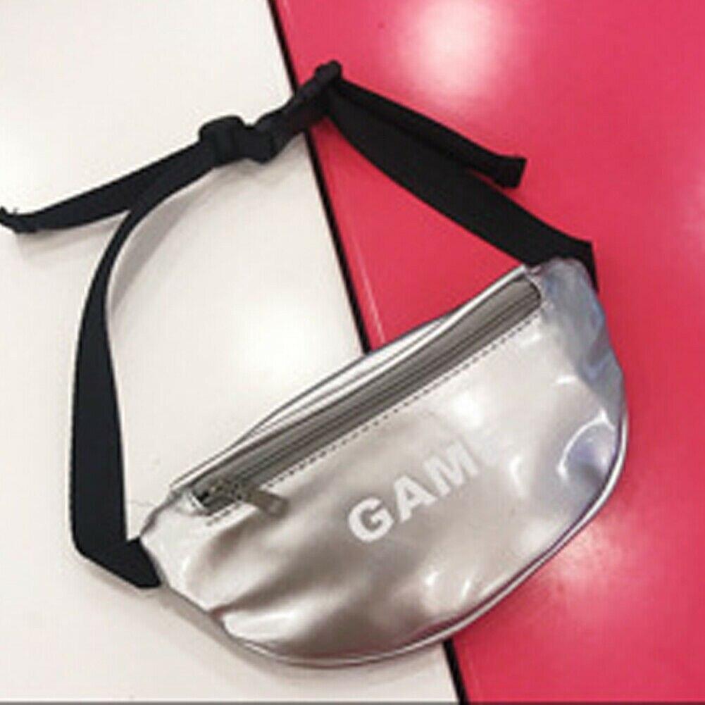 Модная новинка, детская сумка на пояс для маленьких девочек, сумка для спорта на открытом воздухе, сумка с ремнем, сумка для путешествий - Цвет: Серебристый