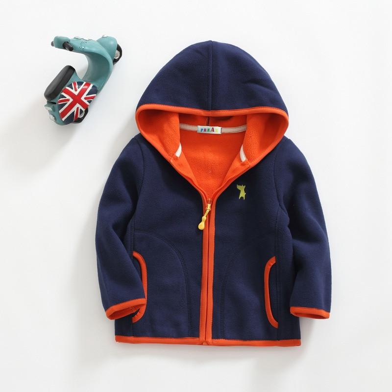 2018 Spring Children Kids Boy girl hoodies Baby Boys girls stripe fleece jackets and coats kids boys sweatshirt 2-8Y