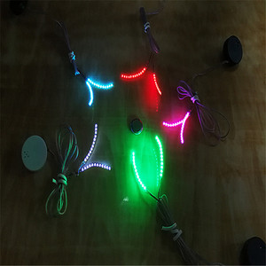 Image 4 - האופנה יוניסקס LED אור מזויף False ריס זוהר הניצוץ ריס עבור המפלגה בר איפור עיניים לאש ריסים מלאכותיים עפעף 20 #626
