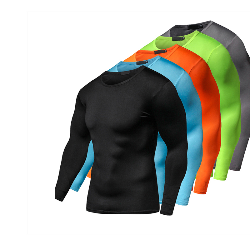 2017 Summer Autumn Male Running T-shirt Tights Long Sleeve Tops & Tees Men Compression Shirt Fitness Quick Drying Sports t shirt