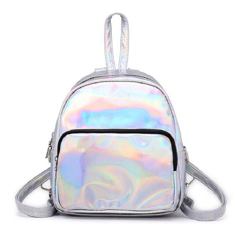 Bescheiden Miyahouse Shiny Laser Weibliche Rucksack Pu Leder Schule Tasche Für Teenager Mädchen Mode Frauen Rucksack Für Reisen Feines Handwerk