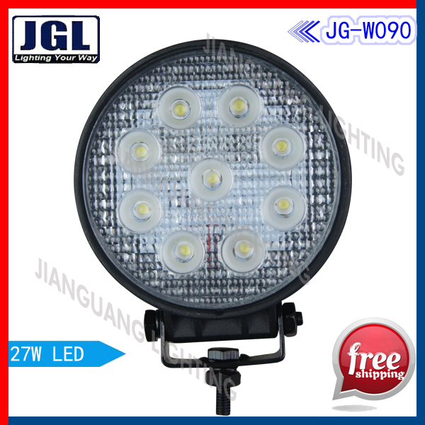 Big Promotion 50pcs/lot 27w working lamp 10-30V~12 months warranty 2500Lm led worklight Top quality led worklamp Free Delivery