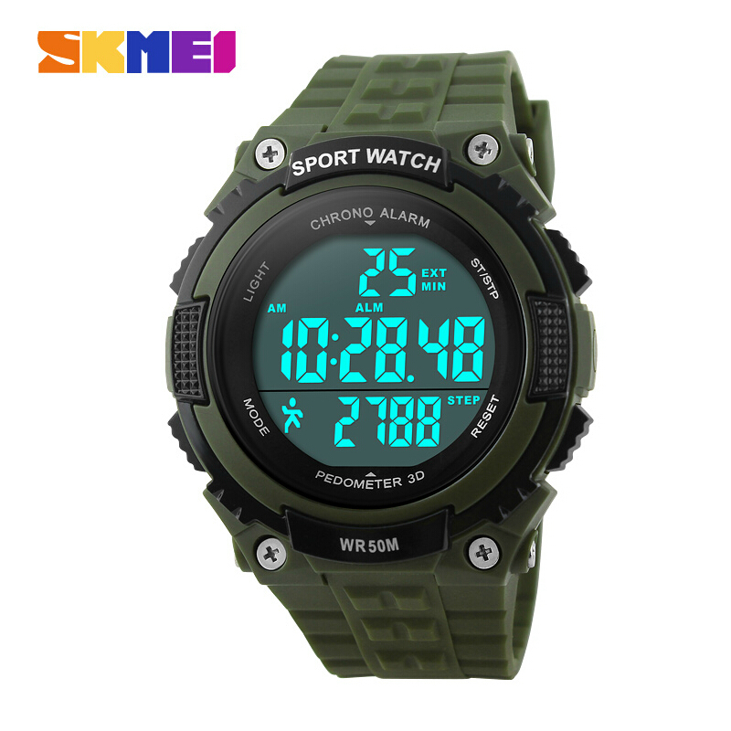 Luxury Brand Men Sports Watches Military Watch Women Casual LED Digital Multifunctional Wristwatches 50M Water Student Pedometer