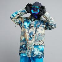 Лидер продаж мужские зимние Куртки Спорт на открытом воздухе Сноубординг одежда 10 К водонепроницаемый ветрозащитный дышащий Лыжный костюм