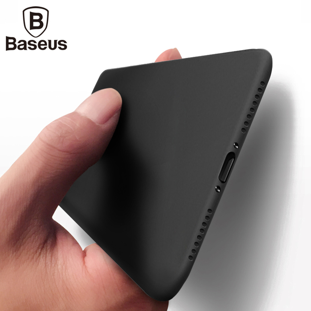 the best attitude 2b5f1 4da17 US $10.42 |Baseus Luxury mobile phone bag case For iPhone 8 7 dirt  resistant Ultra Thin hard plastic back case Cover for iPhone 8 plus-in  Fitted Cases ...