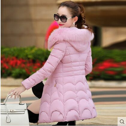 Mozhini High Quality Warm Women Winter Jacket Solid Color Coat Fashion Long Slim Wadded Thick Parkas big size warm coat overwear women winter cotton hooded coat 2017 fashion long slim solid warm parkas high quality female wadded jacket zipper outwear yp0537