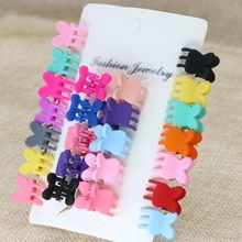 isnice Cartoon Girls Cute Rabbit Children Hair Gripper Lovely Candy Color Mini Scrub Small Crabs Claw Flower Clips