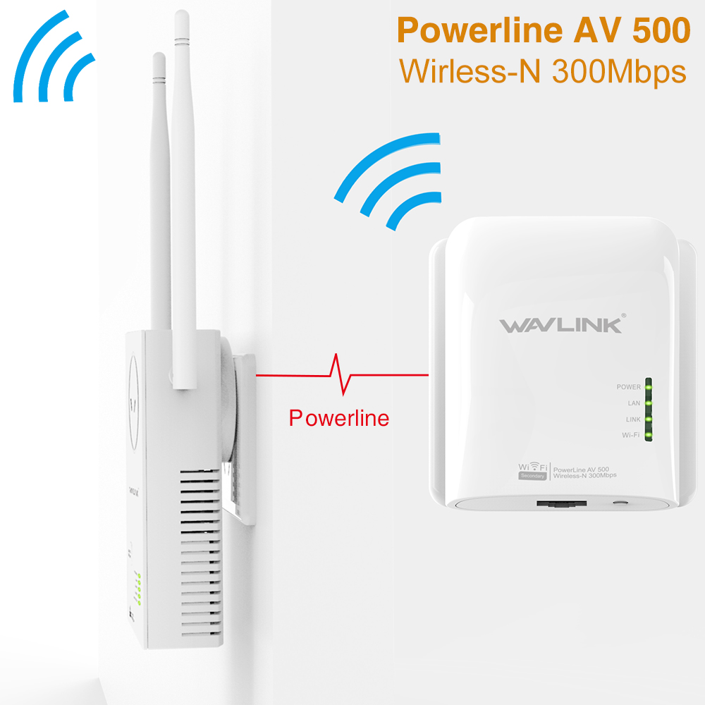 Wavlink AV500 2 LAN Port Powerline Wlan Adapter Verdrahtete 500 ...