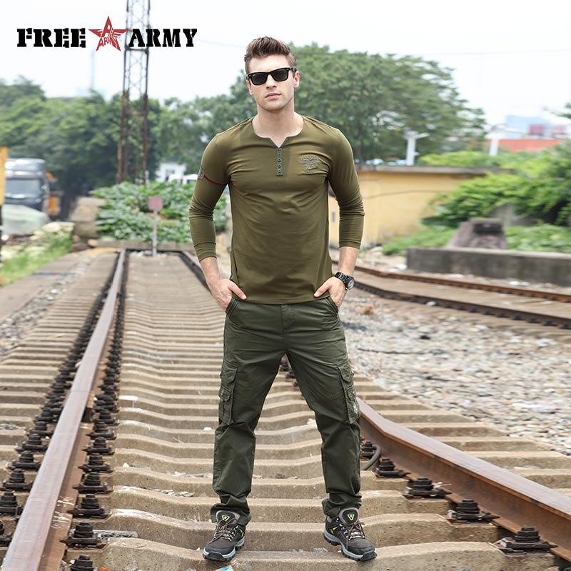 Znamka vojaške vojske zelene moške hlače 2018 novo bombažne - Moška oblačila - Fotografija 4
