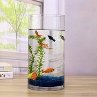 1pc Aquarium Tank OD90x2x200mm Acrylic Mini Fish Bowls Water Tube Home Office Decor Desk Flower Vase Aquatic Cylindrical Pet