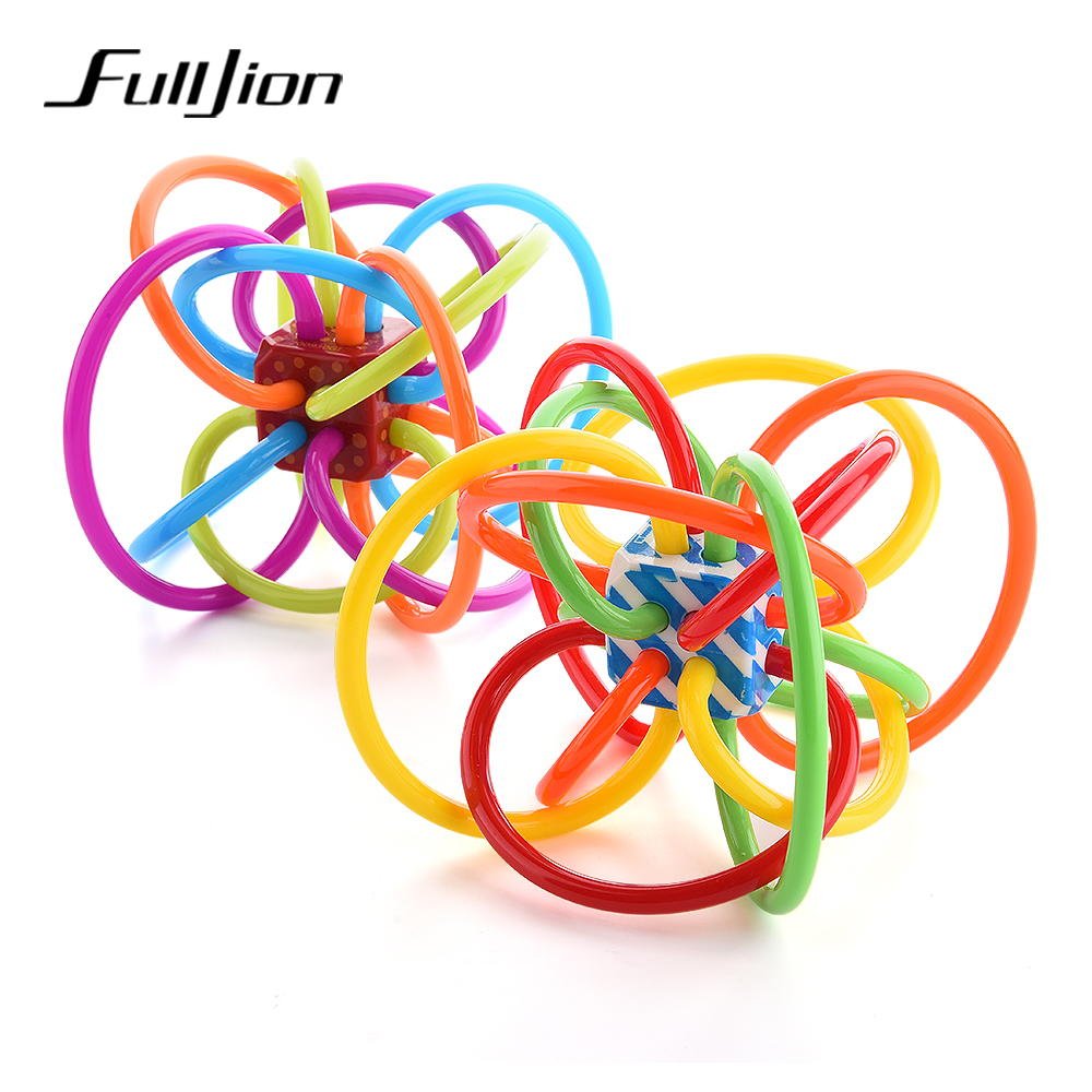 Fulljion Baby Teether Silicone Safety Teething Toys Learning Educational Rattles Mobiles Bells Chew Baby Products Teeth Training