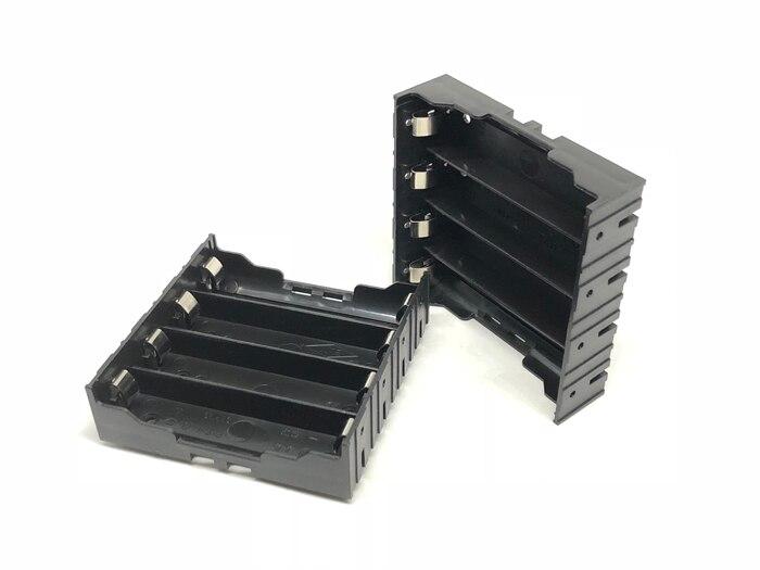 MasterFire 100 pcs/lot Schwarz Kunststoff Storage Box Halter Abdeckung Pin für 4x18650 Batterie Fall Clip Halter 4 Pin Kontaktieren 3,7 V DC-in Batterie-Aufbewahrungsboxen aus Verbraucherelektronik bei  Gruppe 1