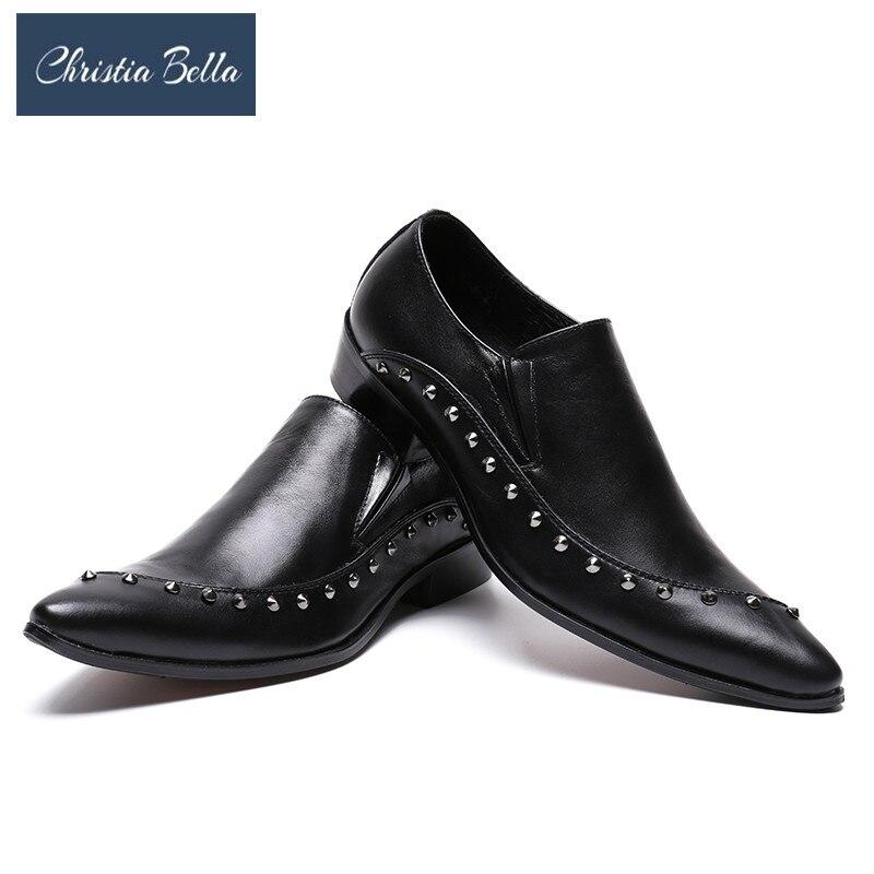 Christia Bella Italy Stylish Genuine Leather Men Formal Dress Shoes
