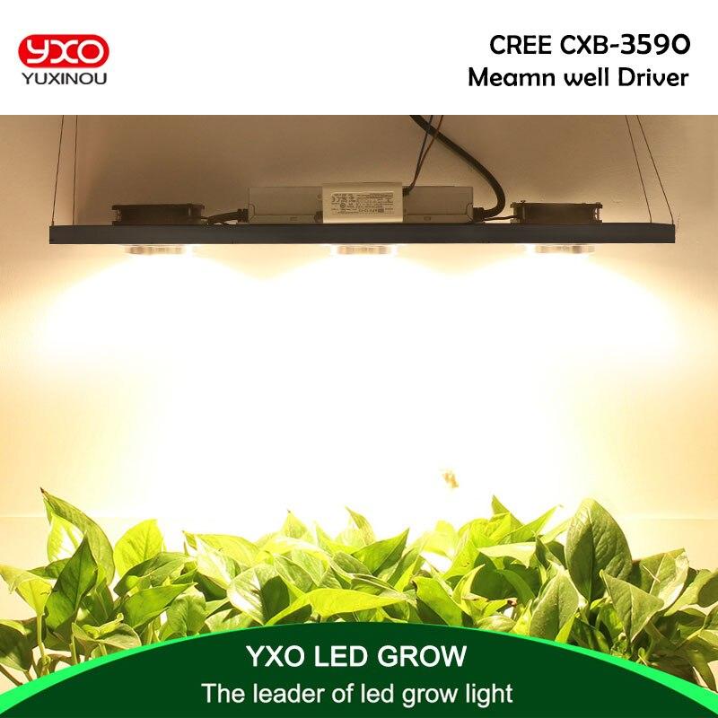 Lámpara LED CREE CXB3590 300W COB regulable de espectro completo, lámpara LED 38000LM = HPS 600 W, lámpara creciente, iluminación de crecimiento de planta de interior