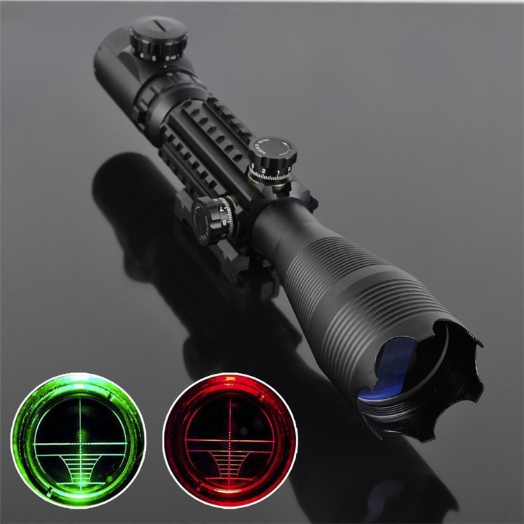 ФОТО Free Shipping 4-16X50 EG Airsoft Rifle Scope Red & Green Dot Railed Hunting Air Gun Scope Military Guide Rail Telescopic Sight