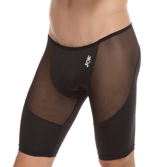 Hot! alta Elasticidade Homens Shapers Cintura Baixa Transparente Ver Através Bodysuit Sexy Roupa Interior Dos Homens do Sexo Masculino Calções Shaper Do Corpo S12
